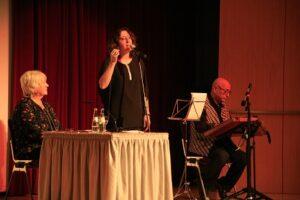 V.l.n.r.: Monika Seyhan, Autorin - Sibel Simir, Sängerin - Mustafa Seyhan, Musiker