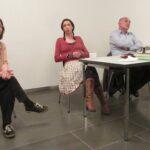 Lesung mit Maren Pfeifer und Hidir Celik; Moderatorin Almut Schubert